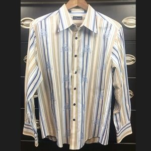 🎃 7 Diamonds Mens Long Sleeve Button Down Shirt